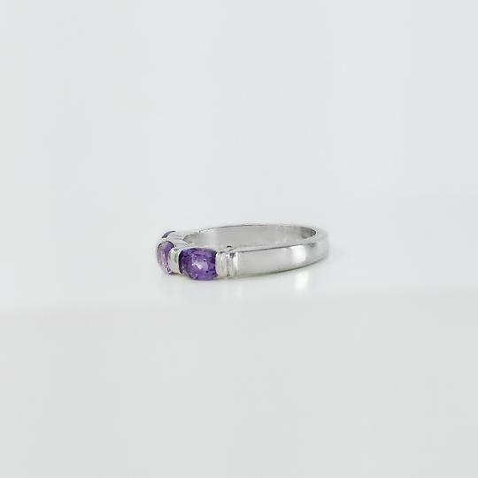 Other Sterling Silver Purple Stone Ring Size 7
