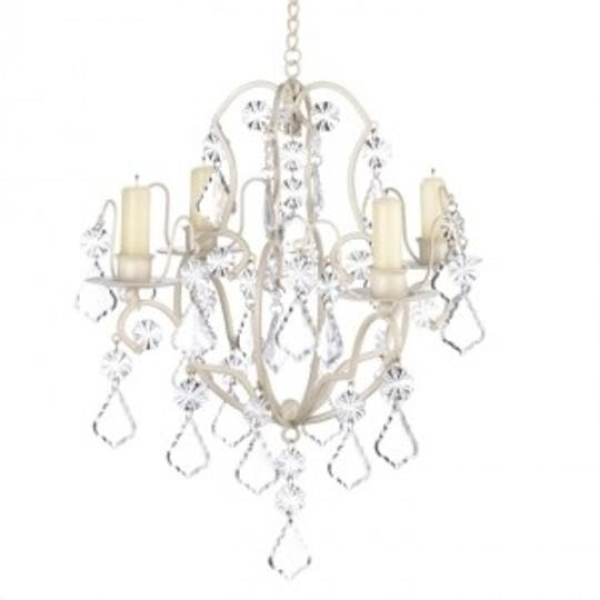 Ivory Baroque Chandelier New Votive/Candle