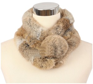 Unknown Geniune Rabbit Fur Scarf Muffler Free Shipping