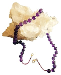 Other Vintage amethyst bead necklace