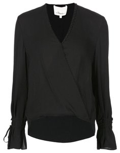 3.1 Phillip Lim Night Out Silk Classic Staple Piece Top Black