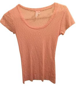 Sweet Pea by Stacy Frati Lace Pastel T Shirt Pink