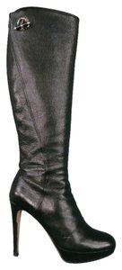 Dior Platform Knee High Black Boots