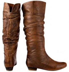 Steve Madden Leather Candence Slouchy Casual Cognac Boots