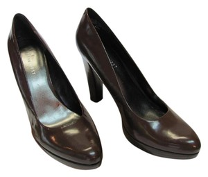Nine West Size 8.50 M Patent Leather Brown Pumps