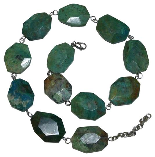 Preload https://item3.tradesy.com/images/anthropologie-blue-green-turquoise-teal-genuine-chrysocolla-stainless-steel-necklace-18997072-0-1.jpg?width=440&height=440
