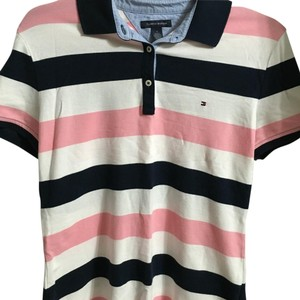 Tommy Hilfiger T Shirt Pink/Black/White