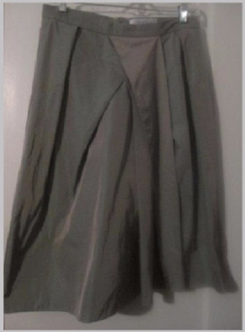 Max Mara Excellent Vintage Asymmetrical Avant Garde Look Fabric Tiered Pleated Skirt iridescent green/purple
