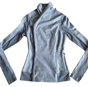 Lululemon Lululemon Bhakti Yoga Jacket Gray Sz 6 Small Long Sleeve