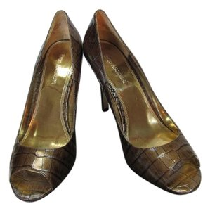 Enzo Angiolini Size 10.00 M Leather Medium Brown Pumps
