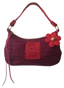 """Victoria's Secret 12"""" Love Tote in Pink & Burgandy with Gold accent"""