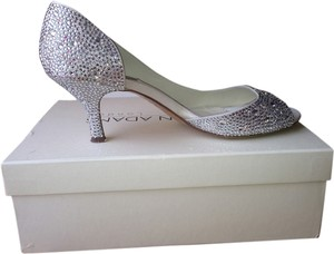 Benjamin Adams Swarovski Crystals. Satin Upper Leather Lining And Sole Duchesse Satin Ivory Formal