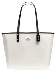 Coach Tote in Black White Chalk