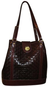Brahmin Leather Tote in Mahogany