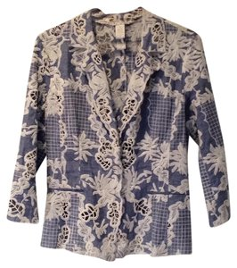 Alberto Makali Light Blue Denim Blazer