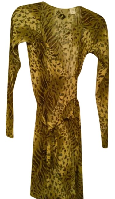Preload https://item5.tradesy.com/images/norma-kamali-yellow-animal-print-wrap-with-mid-length-cocktail-dress-size-10-m-18998374-0-1.jpg?width=400&height=650