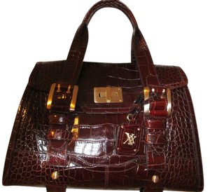 Maxx New York Leather Satchel in Chocolate