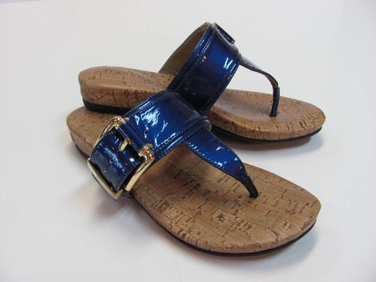 Me Too New Size 6.00 M Leather Excellent Condition Blue Sandals