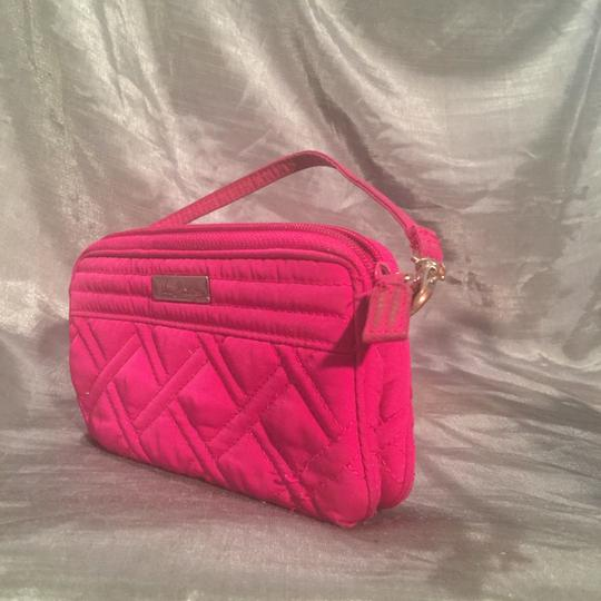Vera Bradley Deep Hot Pink (touch Of Purple) Clutch