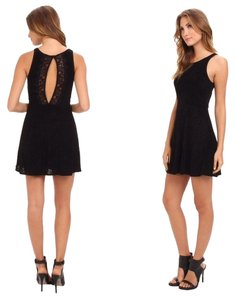 Free People short dress Lady Jane Fit & Flare Sz L In Black on Tradesy