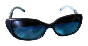 Tiffany & Co. Tiffany & Co Black Tiffany Blue chain rhinestone Sunglasses Polarized