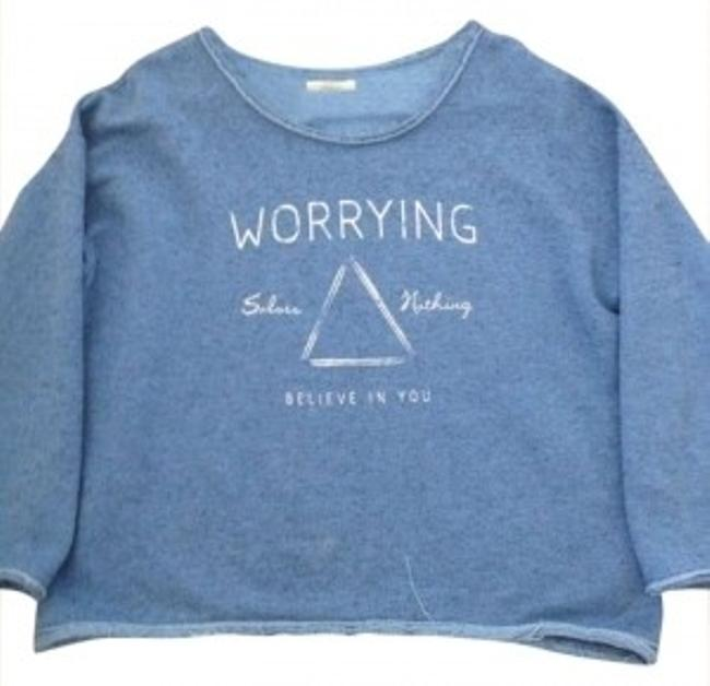 Preload https://img-static.tradesy.com/item/189989/zara-blue-sweatshirt-loungewear-cozy-cute-comfortable-sweaterpullover-size-8-m-0-0-650-650.jpg