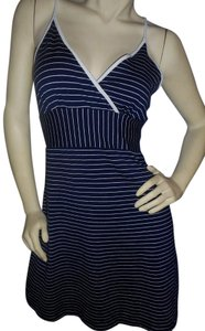 short dress Navy & white Fit Flare Pullover on Tradesy