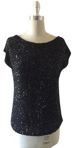 Haute Hippie Beaded Top Black