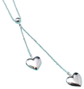 Tiffany & Co. Tiffany & Co. Puffed Double Heart Dangling Necklace