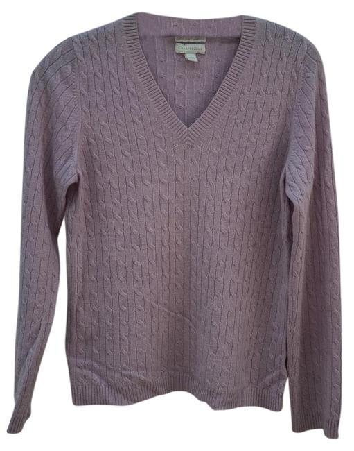 Item - V-neck Cable Knit Lilac Sweater