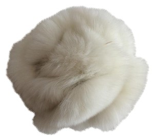 Arden B. White Fur Flower Pin