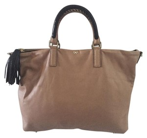 Anya Hindmarch Leather Tote in Tan