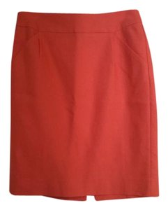 J.Crew Pencil Work Pockets Professional Skirt Coral