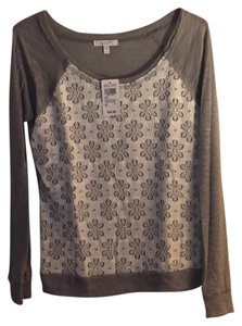 dELiA*s T Shirt Gray with white lace
