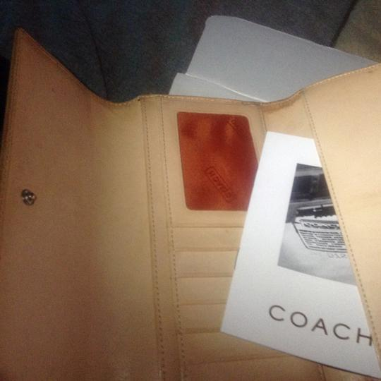 Coach 100% Authentic Coach Checkbook Wallet