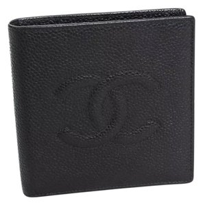 Chanel Chanel Classic Caviar Fold Wallet Black