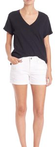 AG Adriano Goldschmied Cuffed Shorts White