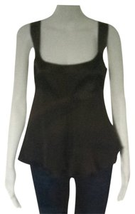 Diane von Furstenberg Top Brown Silk