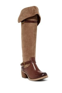 Lucky Brand Roller Over The Knee Brown Boots