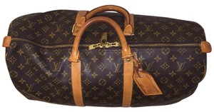 Louis Vuitton Brown Tan Travel Bag