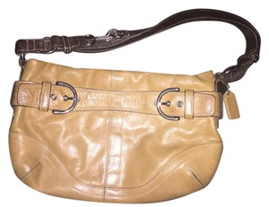 Coach Leather Tan Silver Hardware Hobo Bag