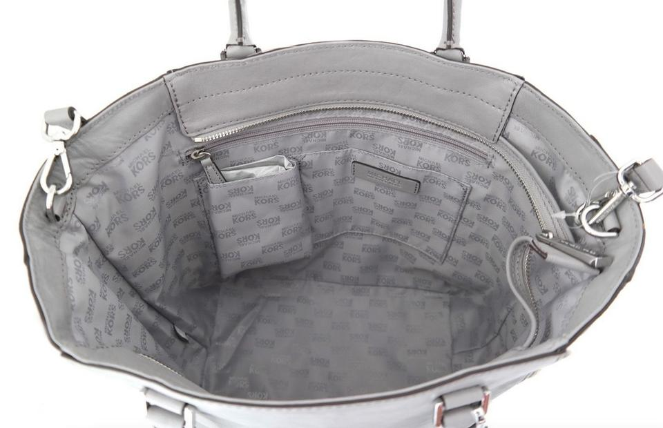 af389f8fae5aa2 Michael Kors Newman Leather Calf Soft Large Messenger Cross Body Mk New Tote  in Ash Grey. 12345