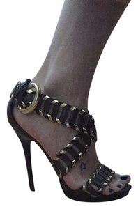 Bakers Chocolate & Gold Sandals