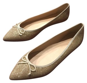 J.Crew Glitter Fun Sale Gold Flats