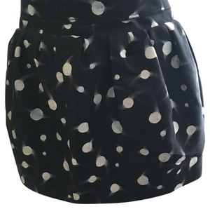Diane von Furstenberg Mini Skirt Black and white