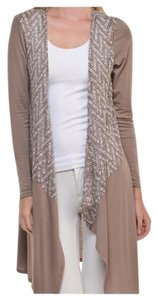 Other Maxi Waterfall Collarless Women Cardigan