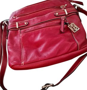 Giani Bernini Leather Zip Cross Body Bag