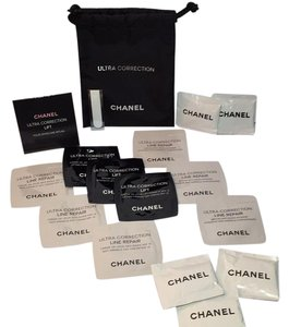 Chanel CHANEL ULTRA CORRECTION Lift & Repair DRAW STRING COSMETIC BAG + SAMPLES