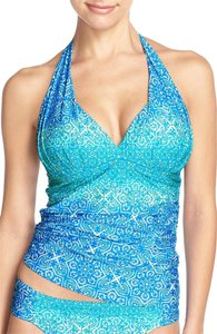 La Blanca LA-BLANCA-Tile-We-meet-again-Goddess-Halter-Tankini-Top-ROYAL-BLUE-16