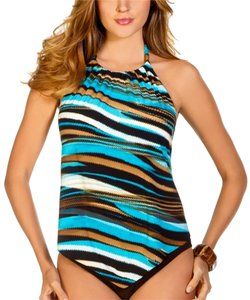 Miraclesuit MAGICSUIT~ZIPPED UP Nicole Underwire Bra Tankini Top